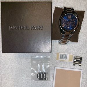 Michael Kors two-tone large face watch